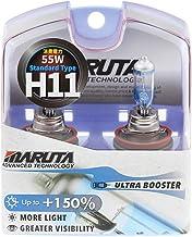 MARUTA (MTEC) H11 55W Ultra Booster 150% MT-556 3700K Xenon Look Set met 2 lampen / E-keurmerk