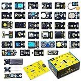 KEYESTUDIO 37個 モジュール センサー スターターキット for Arduino Raspberry Pi 4 アルドゥイーノ アルデュイーノ アルディーノ キット ラズベリーパイ 互換 初心者 子供と大人向け 電子工作 プログラミング おもちゃ 電子部品 セット