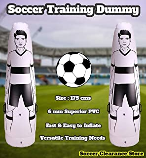 Soccer Inflatable Dummy SID | Goalkeeper Defender Training | Football Practice Tumbler Mannequin Shield | Dummies for Free Kicks, Dribbling Wall Passing Drills