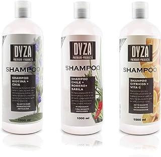 Shampoo de Citricos, Chile Romero Sabila y Biotina contenido 3 piezas c/u de 1000 ml.