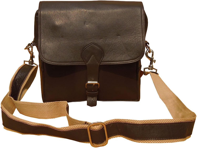 Spice Art Brown Cow Genuine leather Unisex Crossbody HandBag