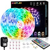Led Strip Lights 12M, SHOPLED RGB SMD 5050 Led Lights Colour Changing Kit with 44 Key Remote Control and Power Supply, for Bedroom, Kitchen, TV, Party