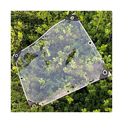 CXF Pflanzendecke Transparente Plane wasserdichte PVC-Kunststoffplane Mit Ösen, 0,3 Mm, Größe Kann Angepasst Werden (Size : 0.4×1.4m)