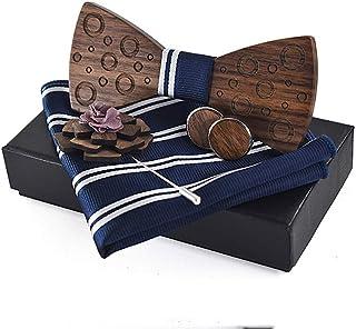 Men's Women's Wooden Bow Tie Dot Print Bow Tie Wedding Dress Accessories Bow Bow Tie (Color : Light blue, Size : 5 * 9.5cm)