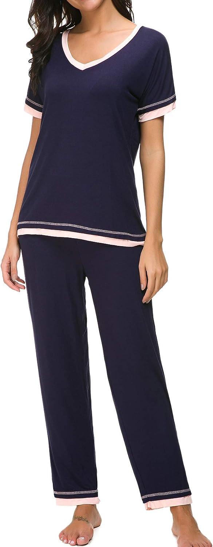 CzDolay Pajama Sets Women Soft Sleepwear 2PCS Loungwear Pjs Top with Bottoms S-XXL