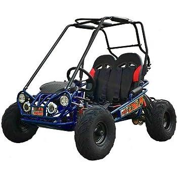 X-PRO Kid Size Go Kart Youth Go Kart Dune Buggy Kids Go Cart Gokart 2 Seater Go Kart (Blue)