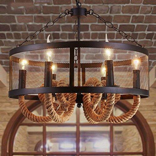 DSJ kroonluchter creatieve lampen woonkamer Europese stijl retro landelijke pastorale restaurant verlichting ijzer kunst hanglampen