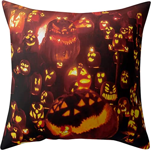 high quality Halloween Pillow sale Covers Halloween Theme Throw Pillow Covers Holiday Pillow Covers Halloween outlet sale Pillowcase for Living Room Bedside Decoration, 18x18 inches (#01) online sale