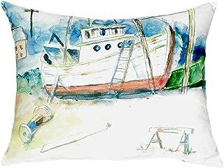 """Betsy Drake NC698 Old Boat No Cord Pillow,,16"""" X20"""""""