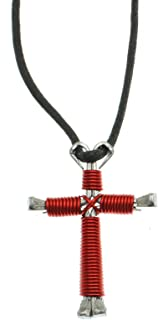 Horseshoe Nail Cross Necklace - Made in USA