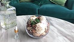 Summer kiwi citron parfum Hand poured naturel Bougie parfumée dans un pot Liège Couvercle Boîte