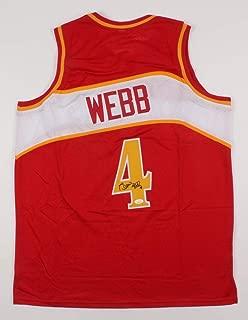 spud webb signed jersey