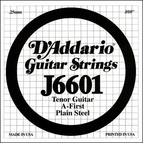 D'Addario J6601, cuerda individual de acero para guitarra tenor.010