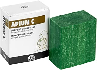 Ondalis Apium C - Champú Sólido Natural – Cabellos Grasos y con Caspa - Purificante y calmante – Sin perfume y sin conserv...
