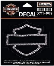 Harley-Davidson Rhinestone Blank B&S Decal, SM Size, 4 x 3.375 in. DC1144062