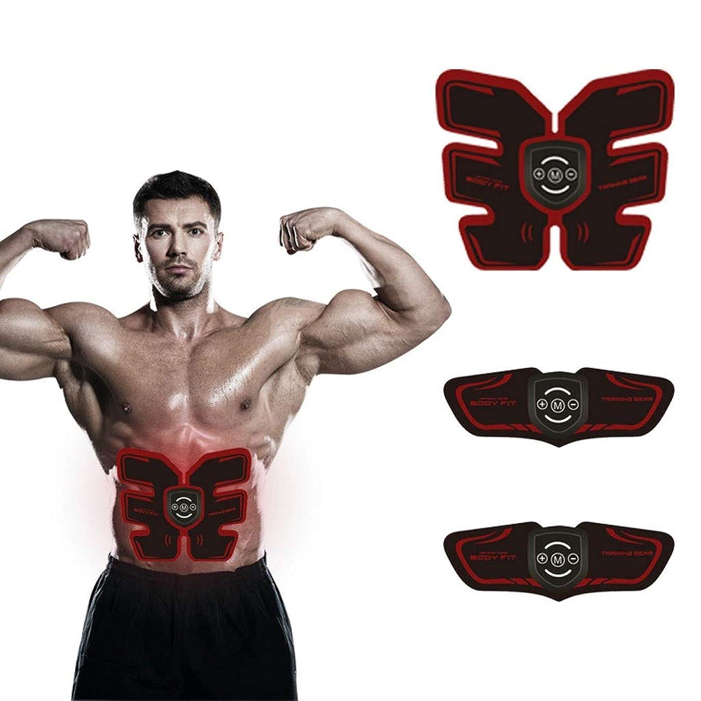 ウエストトリマーAbベルト、マッスルスティミュレーター、EMS Abs Trainer腹部ベルトUSB充電式筋肉Abs Arms脚用Absサポートベルト8モード9男性用?女性用レベル
