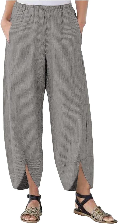 Ranking TOP11 FNJJLU Women Wide Leg Pants Solid Trousers Waist Max 42% OFF Color Elastic L