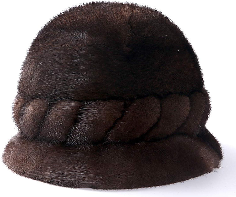 BABYHYY Leather Hat Female Winter Fur Hat Ear Predection Headgear Hat Hat Hat Warm Hat