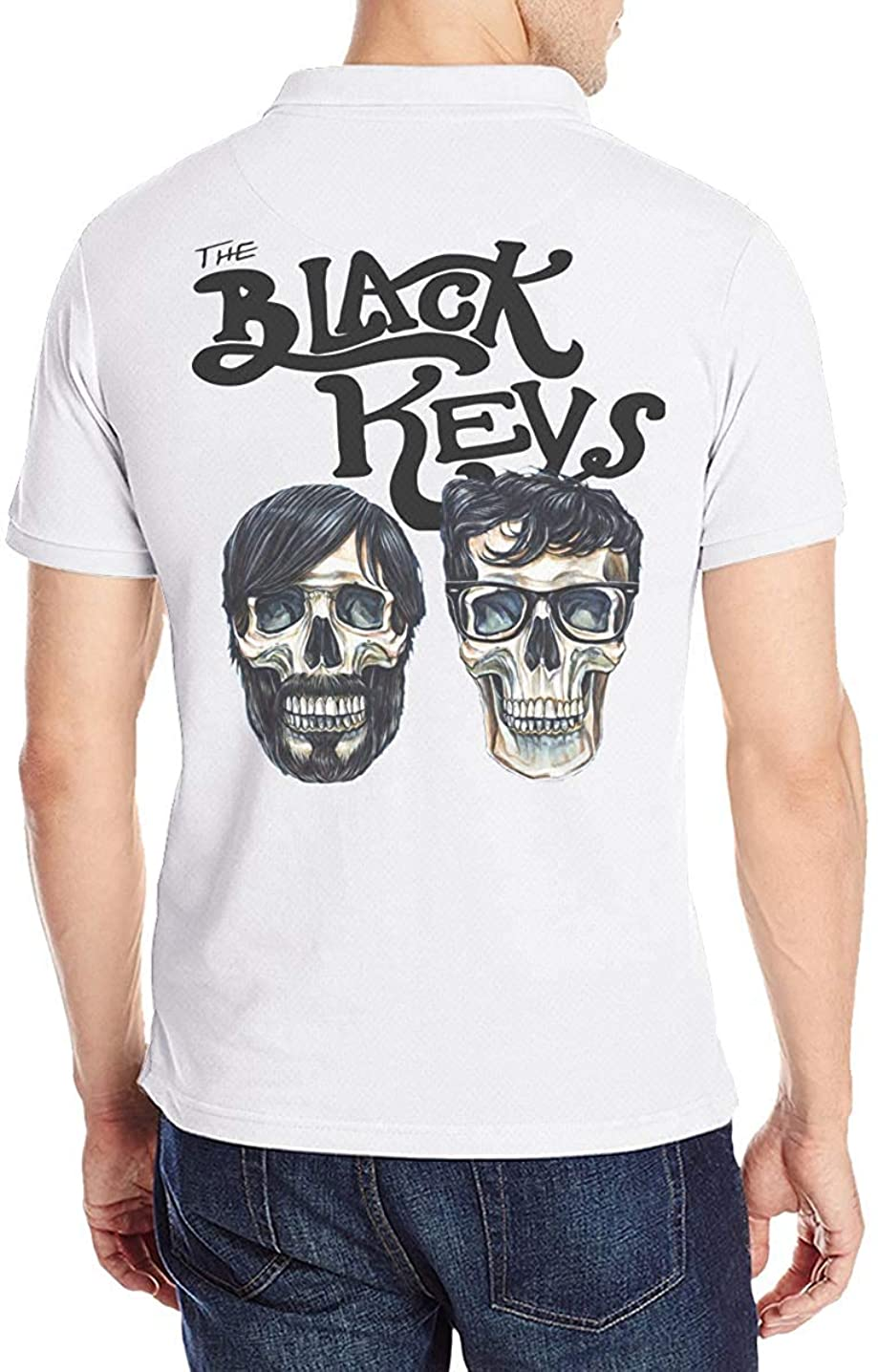輝く散髪アンケートザ?ブラック?キーズ The Black Keys ポロシャツメンズ半袖 モーション 花柄 通気性 贈り物 Tシャツ