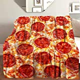 """AIBILEEN Delicious Pizza Throw Blanket Cozy Warm,Thick Velvet Blanket for Couch Bed Living Room S 50""""X40"""""""