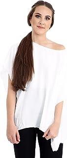 Momo&Ayat Fashions Ladies Plain Chiffon Kimono Batwing Off Shoulder Lightweight Summer Top AUS Size 8-26