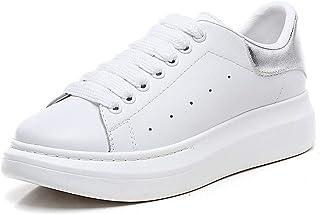 Zapatillas de Deporte para Unisex Adulto Sneakers Plataforma Zapatillas Deportivas de Malla Ligera Blanco Negro EU 34 - EU 45