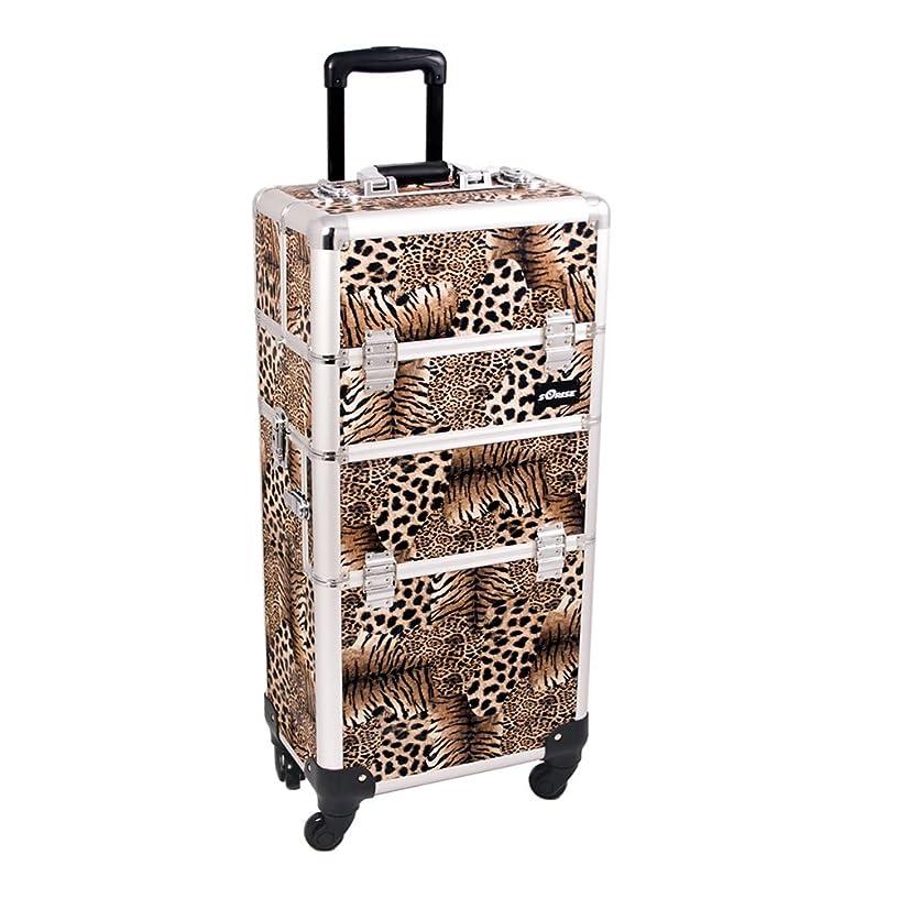 Leopard Trolley Craft/Quilting Storage Case - I3661