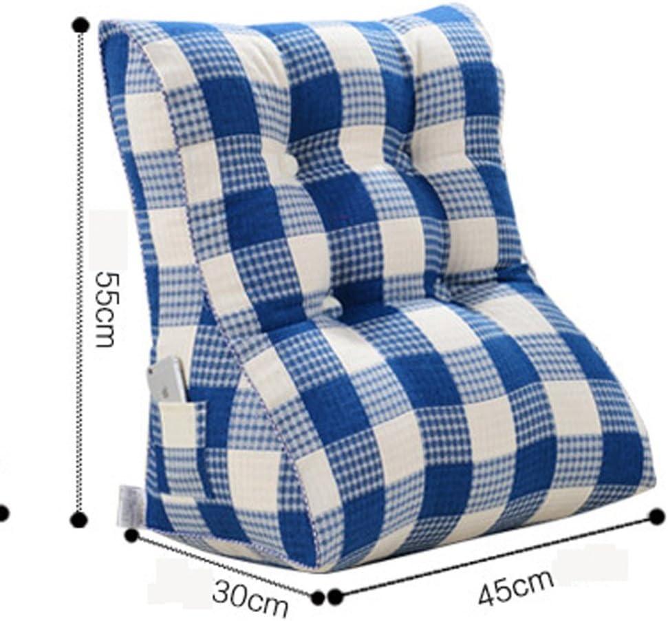 WEBO HOME- Tapis de Coussin Lit d'Oreiller Head Soft Bag Lit d'Oreiller Lit Dossier (45 * 55cm) -Coussin/oreiller (Couleur : 7) 5