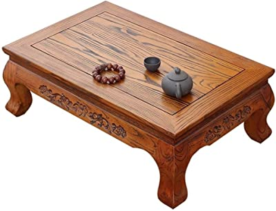 Wooden Coffee Table Living Room Low Table Solid Wood Tea Table Laptop Table Breakfast Table (Color : B, Size : 70X45X25CM)
