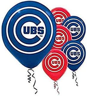 """""""Chicago Cubs Major League Baseball Collection"""" Printed Latex Balloons, Party Decoration"""
