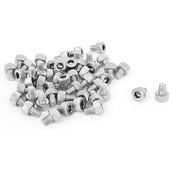 uxcell M4x5mm Thread Button Head Hex Socket Cap Screw Bolt 100pcs a15120300ux0248