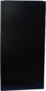 Wall Control Pegboard 32in x 16in Black Metal Pegboard Tool Board Panel