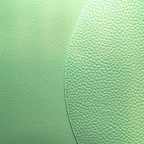 LIXUDECO Estera de Mesa Set Soft PU Cuero Vajilla Cojín de vajilla Lavable Costera Aislamiento de Calor a Prueba de Calor Aislamiento Antideslizante (Color : 12 Light Green, Size : S 11x13cm)