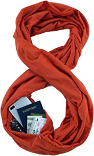 Waypoint Goods Infinity Scarf with Pocket - Stylish Travel Loop Scarf for Women