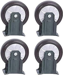 Zwenkwiel Bewegende zwenkwielen Zwaar uitgevoerde rubberen zwenkwiel 4 inch industriële trolleywielen voor magazijnen Plan...