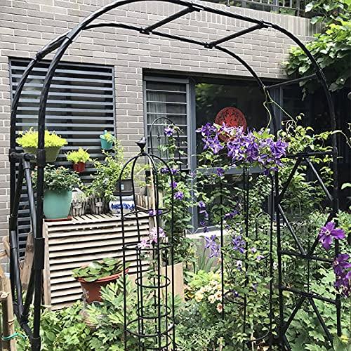 LJHSS Arco de jardín,Metal Garden Arch,Garden Archway Enrejado de Acero para Rosales y Plantas trepadoras de Metal