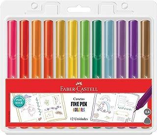 Faber- Castell Caneta Fine Pen Colors, 12 cores