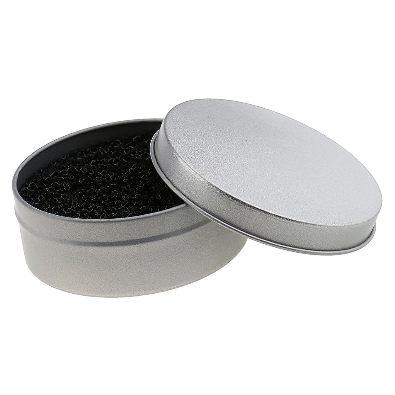 引き出し厳密にパトロンDYNWAVE メイクブラシ クリーナー ブラッシュブラシ クリーニング スポンジ メタルボックス 全2色 - 銀