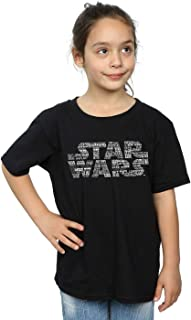 Star Wars Girls Repeat Text Logo T-Shirt