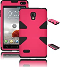 Bastex Heavy Duty Hybrid Case for LG Optimus L9 P769 - Black Silicone / Hot Pink Hard Cover