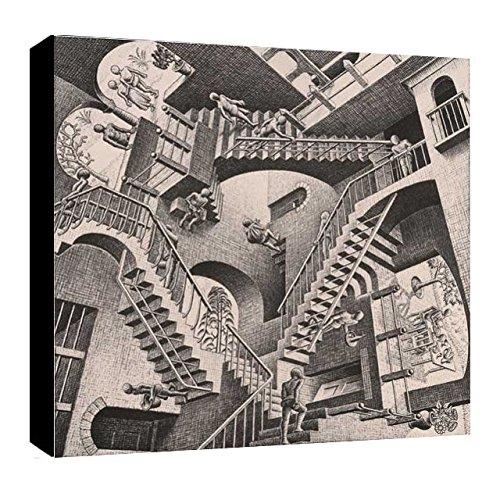 Quadro intelaiato Pronto da Appendere Escher 11 cm 50x50 Stampa su Tela Canvas Il Negozio di Alex