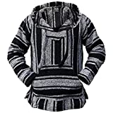 Authentic Mexican Baja Hoodie - Woven Pullover Sweater Jacket