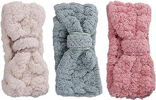 Lurrose 3 pezzi fascia Spa trucco fasce donne corallo del vello dei capelli cosmetici fascia per capelli copricapo per lo ...