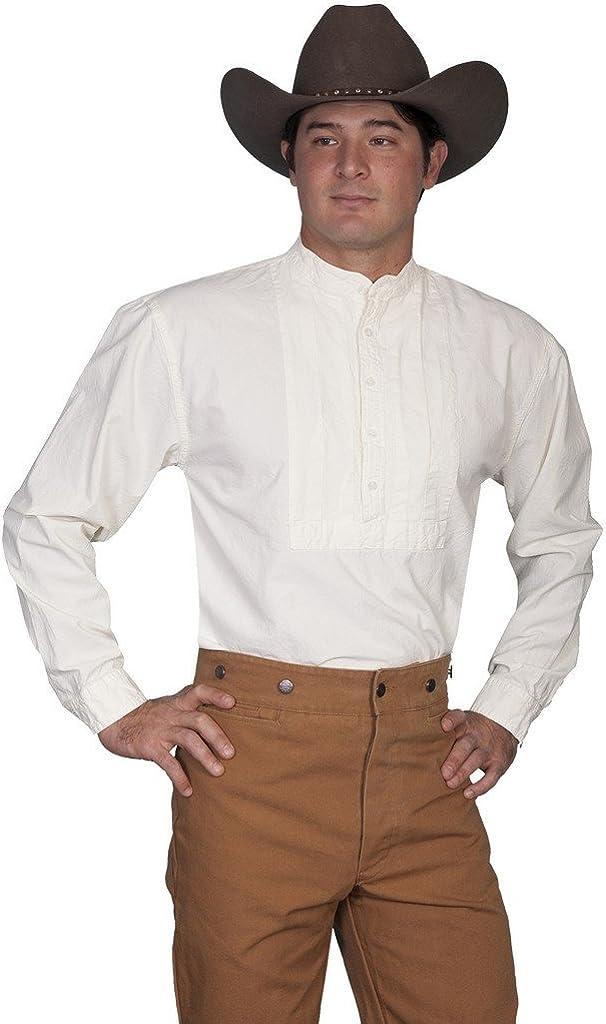 Scully Rangewear Men's Rangewear Pleated Inset Bib Shirt Big and Tall - Rw218x-Lgr