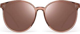 JIM HALO Polarized Round Sunglasses Women Retro Oversized Circle Lens UV400