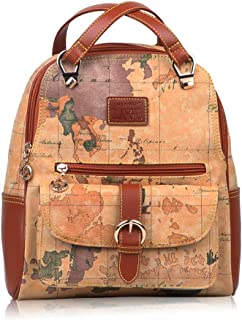 B.ANGEL Fashion Backpack Purse for Women Retro Style Map Design Shoulder Bags Travel Casual Daypack