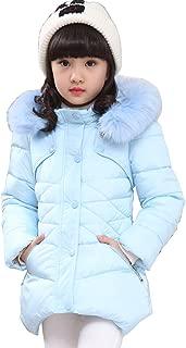 Child Kids Girls Winter Warm Jackets Snowsuit Hooded Windbreaker Outwear with Soft Fur Hoodies for 3-12 Years Old