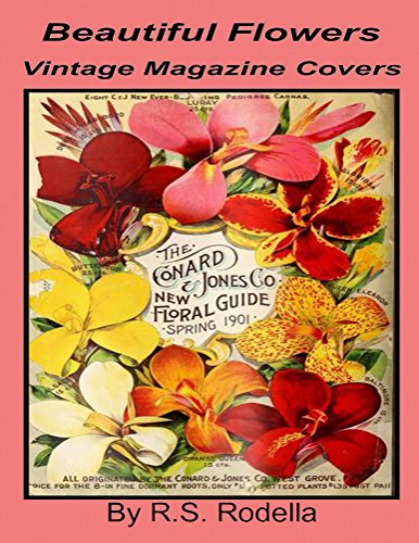 Beautiful Flowers Vintage Magazine Covers: Coffee Table Book (English Edition)