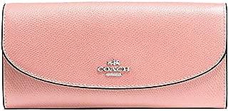 Coach Crossgrain Leather Slim Envelope Wallet - F54009 (Petal/Pink)