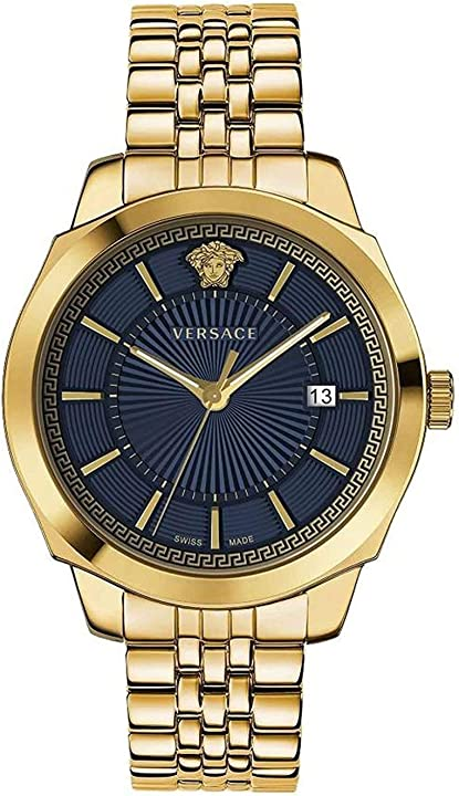 Orologio versace vev900619 icon classic heren horloge chronograaf 42 mm VEV9006 19